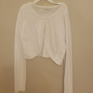 Girls formal sweater with pearl accents